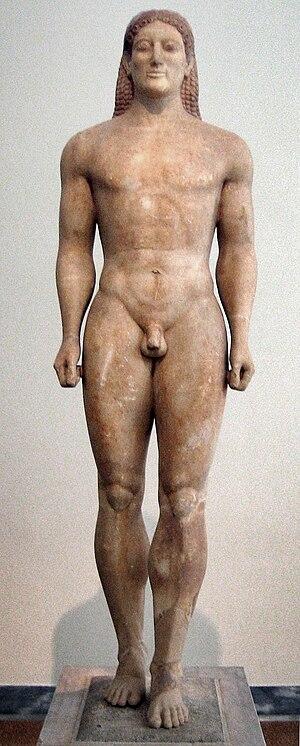 Classical sculpture - Image: Kouros anavissos