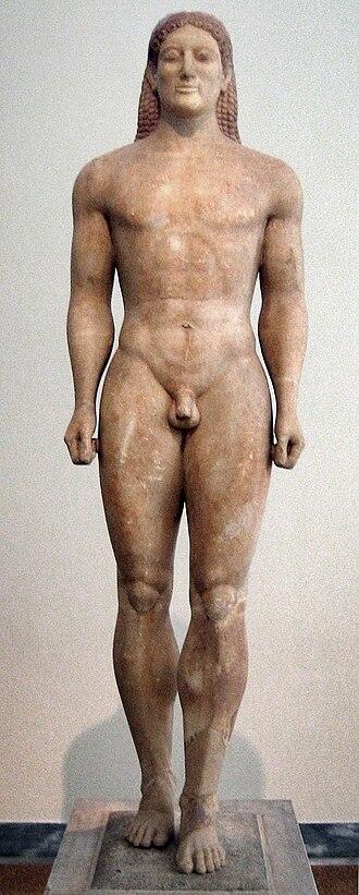 Kroisos Kouros - Anavyssos Kouros, ca. 530 BC.