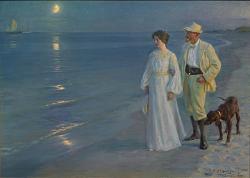 Peder Severin Krøyer: Summer Evening at Skagen Beach – The Artist and his Wife