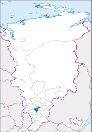 Берёзовский район на карте