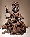 Krishna yamari (conquistatore della morte a sei facce) su un bufalo, dallo yunnan, xii secolo.jpg