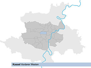 Lage von West in Kassel