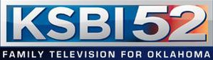 """KSBI - Former KSBI logo, used from 2009 to 2011; this logo was introduced during the """"Thunder TV"""" branding era alongside a secondary logo using that branding that accompanied the primary logo. It was also used alongside the """"OK52"""" branding until May 23, 2011."""