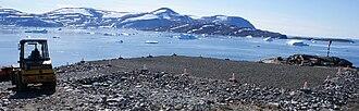 Saarlia Island - Saarlia Island and Kiatassuaq Island (behind) seen from Kullorsuaq Heliport