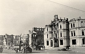 Much of the square was ruined in the World War II.