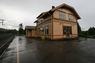 Lørenskog Station - Image: Lørenskog stasjon TRS 070730 008