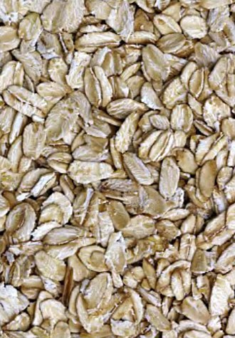Oat beta-glucan - Oat flakes used for making common oatmeal products
