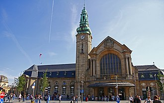 Luxembourg railway station - The station's facade at Place de la Gare is in the traditional Moselle Baroque Revival style.
