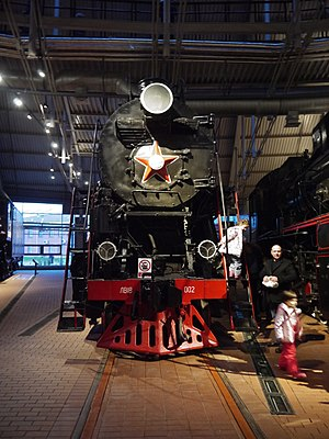 Russian locomotive class LV - LV18-02 at the Russian Railway Museum Saint Petersburg, Russia