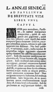 <i>De Brevitate Vitae</i> (Seneca) Essay by Seneca