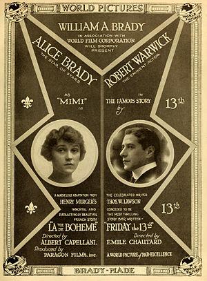 Alice Brady - Image: La Boheme Friday the 13th