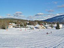 Vue sur une station de ski voisine