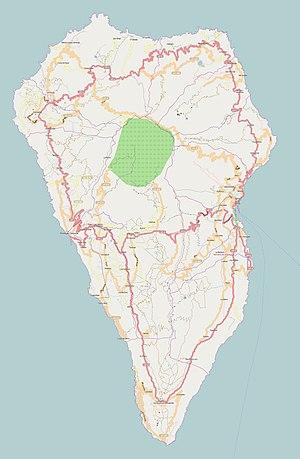 Cueva del Agua, Garafia - Image: La Palma (Canary Islands) OSM map