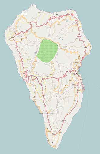 Cueva del Agua, Garafia - Image: La Palma (Canary Islands) OSM map