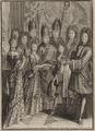 La cérémonie du mariage de Monseigr le duc de Bourgogne avec Me la princesse de Savoye dans la chapelle de Versailles le 7 décembre 1697 gravure anonyme publiée chez Nicolas Arnoult.png