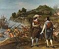 La recuperación de la isla de Puerto Rico por el gobernador de la isla, Juan de Haro. Por Eugenio Cajés..jpg