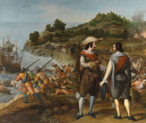 La recuperacion de la isla de Puerto Rico por el gobernador de la isla, Juan de Haro. Por Eugenio Cajes.