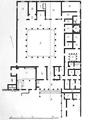 Villa Boscoreale - Plan of Villa of P. Fannius Synistor
