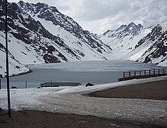 Laguna del Inca at 2,853 m (9,360 ft)