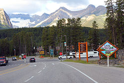 Entering Lake Louise