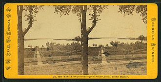 Center Harbor, New Hampshire - View of the lake from Senter House by Nathan W. Pease