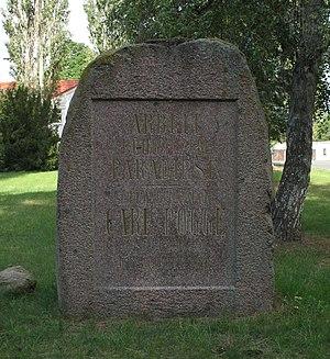 Lalendorf - Memorial stone for Carl Pogge in Roggow