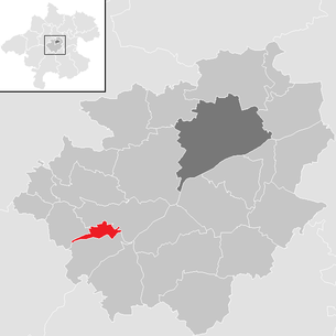 Location of the municipality of Lambach in the Wels-Land district (clickable map)
