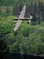 Lancaster Bomber of Battle of Britain Memorial Flight over Derwent Water MOD 45147795.jpg