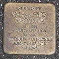 Landshut Stolperstein Ansbacher, Nathan Fritz.jpg