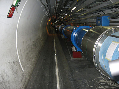 3 June: Reactivation of the Large Hadron Collider (LHC). Large Hadron Collider dipole magnets IMG 0955.jpg