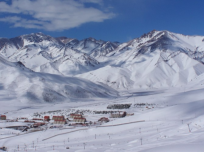Las Leñas an Andean ski resort, located in the...