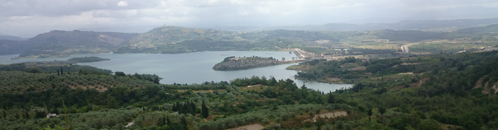 Panoramic view of Ayn al-Bayda, Latakia, a village in Northern Syria
