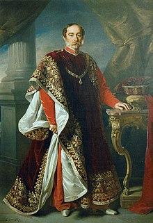 Fürst Karl Egon II. zu Fürstenberg im Ordensornat (Goldenes Vlies) (Quelle: Wikimedia)