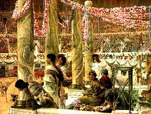 Severan dynasty - Caracalla and Geta, Lawrence Alma-Tadema (1907).