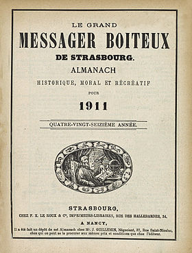 Image illustrative de l'article Le Grand Messager boiteux de Strasbourg