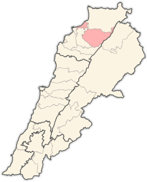 Miniyeh-Danniyeh District - Image: Lebanon districts Miniyeh Danniyeh