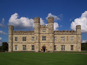 Leeds Castle - The new castle was completed in 1823 in the Tudor style.