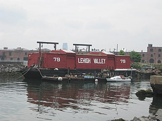 Lehigh Valley Railroad - Barge 79, now a museum in South Brooklyn