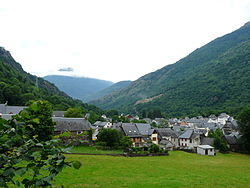 The village of Les, in the Val d'Aran