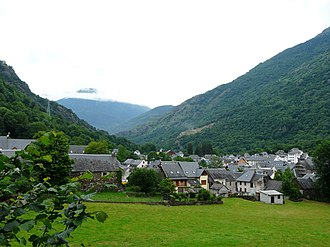 Les, Catalonia - The village of Les, in the Val d'Aran