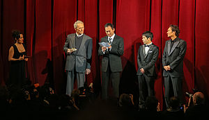 Letters from Iwo Jima - Clint Eastwood, Ken Watanabe, Kazunari Ninomiya and Tsuyoshi Ihara after a screening at the Berlinale 2007