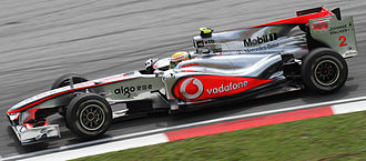 McLaren MP4-25 - Lewis Hamilton finished in sixth position in the 2010 Malaysian Grand Prix despite qualifying in 20th.