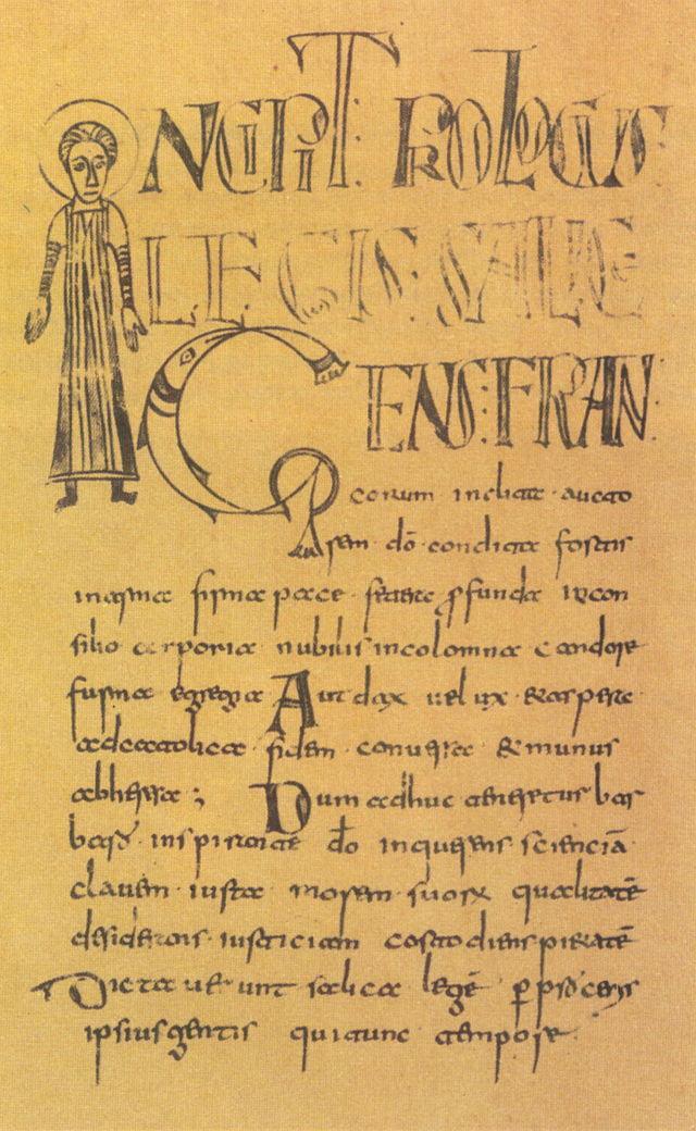Manuscript van de Lex Salica
