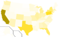 Libertarian Party presidential election results, 1992, raw vote count (United States of America).png