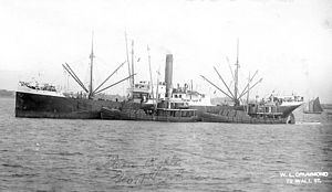 Lighters George H. Johnson and Catherine Johnson alongside freighter.jpg