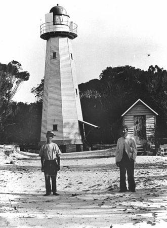 Moreton Island lighthouses - Comboyuro Point Light in 1906