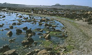 Lihou - The Lihou causeway at low tide