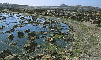 Lihou - The Lihou causeway at low tide