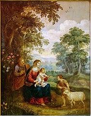 La Sainte Famille avec saint Jean-Baptiste