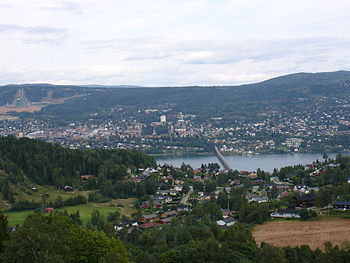 Vista of Lillehammer from the west